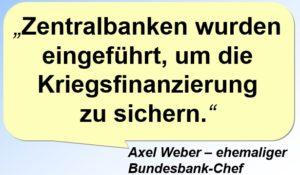 Der Mainstream lobt die Kriegswirtschaft der Zentralbanken