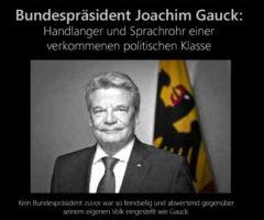 Was hat der Brexit mit der Marionette Gauck zu tun?