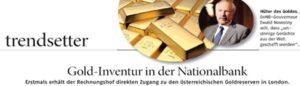 Das Österreichische Gold bleibt unsichtbar