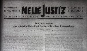 Die deutsche Justiz eifert