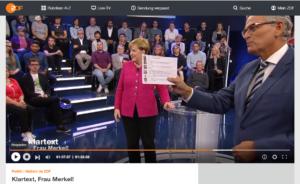 """Wieder bezahlte Klatscher bei """"Klartext, Frau Merkel!""""?"""